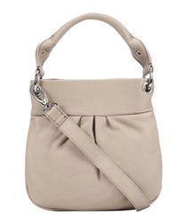 stone leather pleat crossbody bag