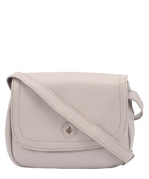 ash leather fold crossbody bag