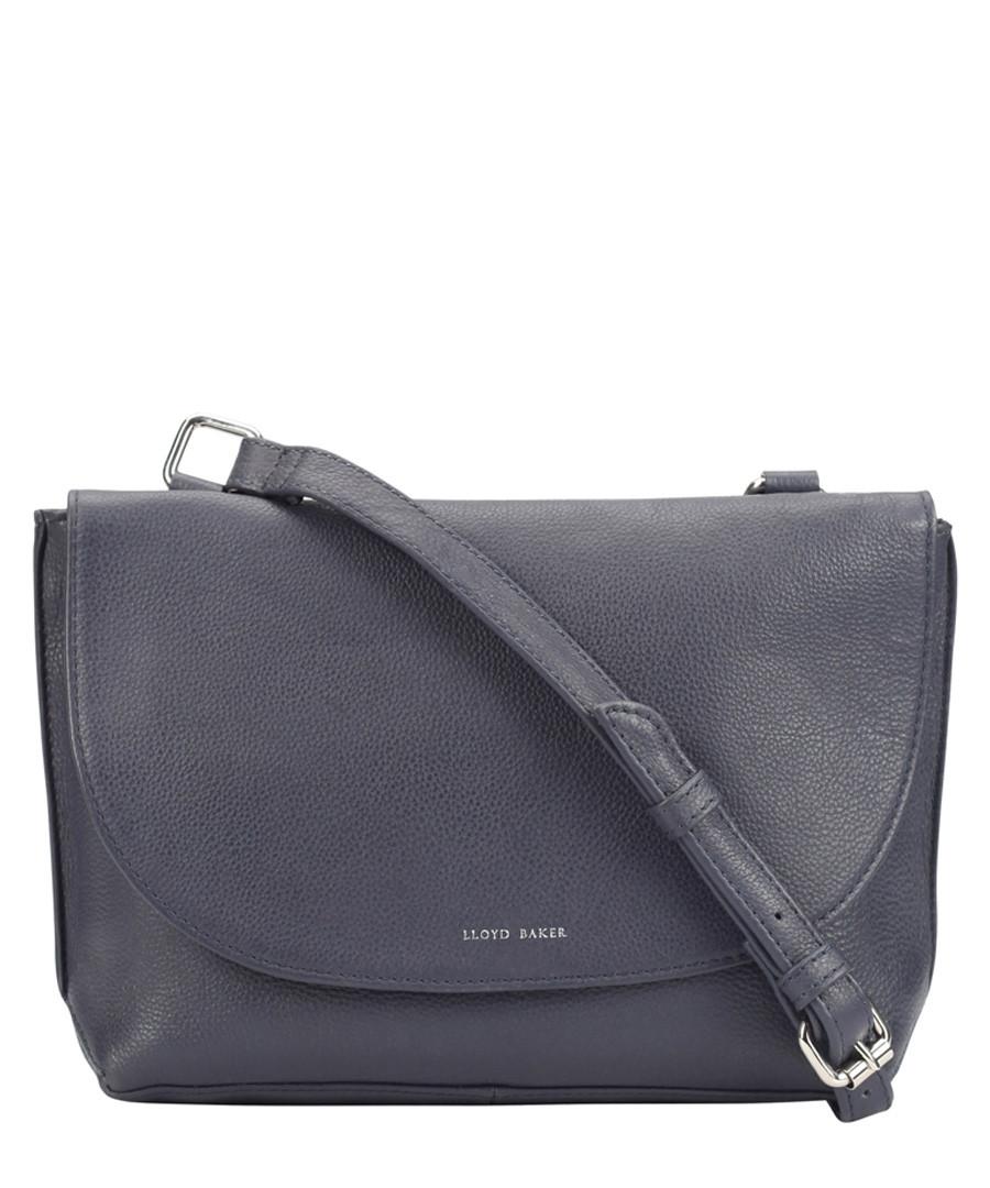 navy leather messenger bag Sale - Lloyd Baker