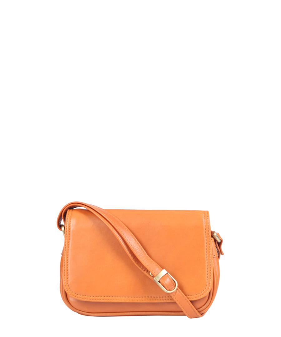 tangerine leather crossbody bag  Sale - Lloyd Baker