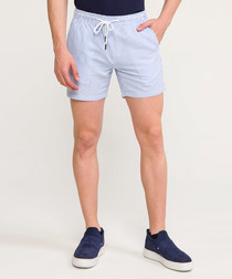 Pale blue drawstring shorts