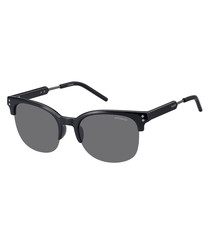 black acetate club sunglasses