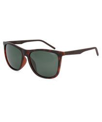 tortoiseshell D-frame sunglasses
