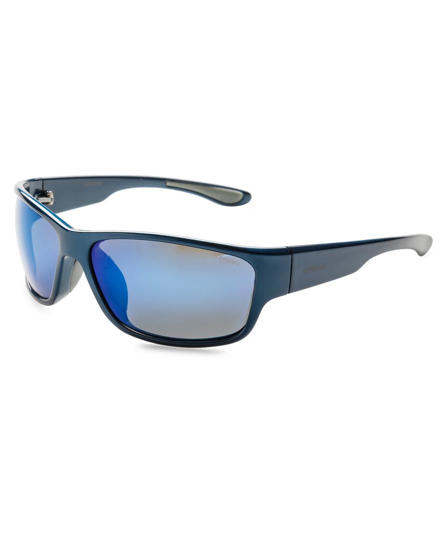 blue wrap sunglasses Sale - polaroid