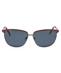 red metal club sunglasses