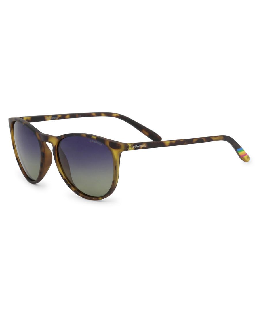 light Havana rounded D-frame sunglasses Sale - polaroid