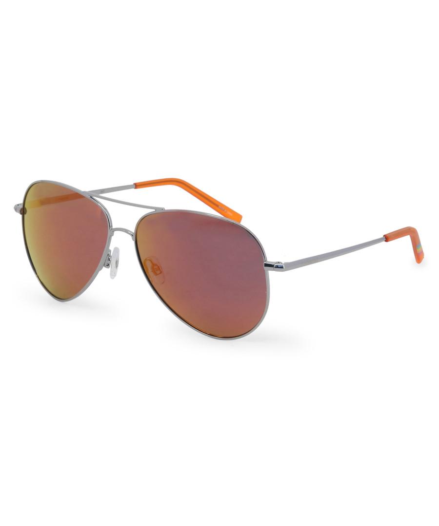 metal & orange pilot sunglasses Sale - polaroid