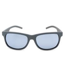 pewter D-frame sunglasses