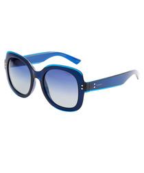 blue squared sunglasses