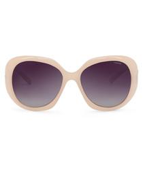 blush rounded sunglasses
