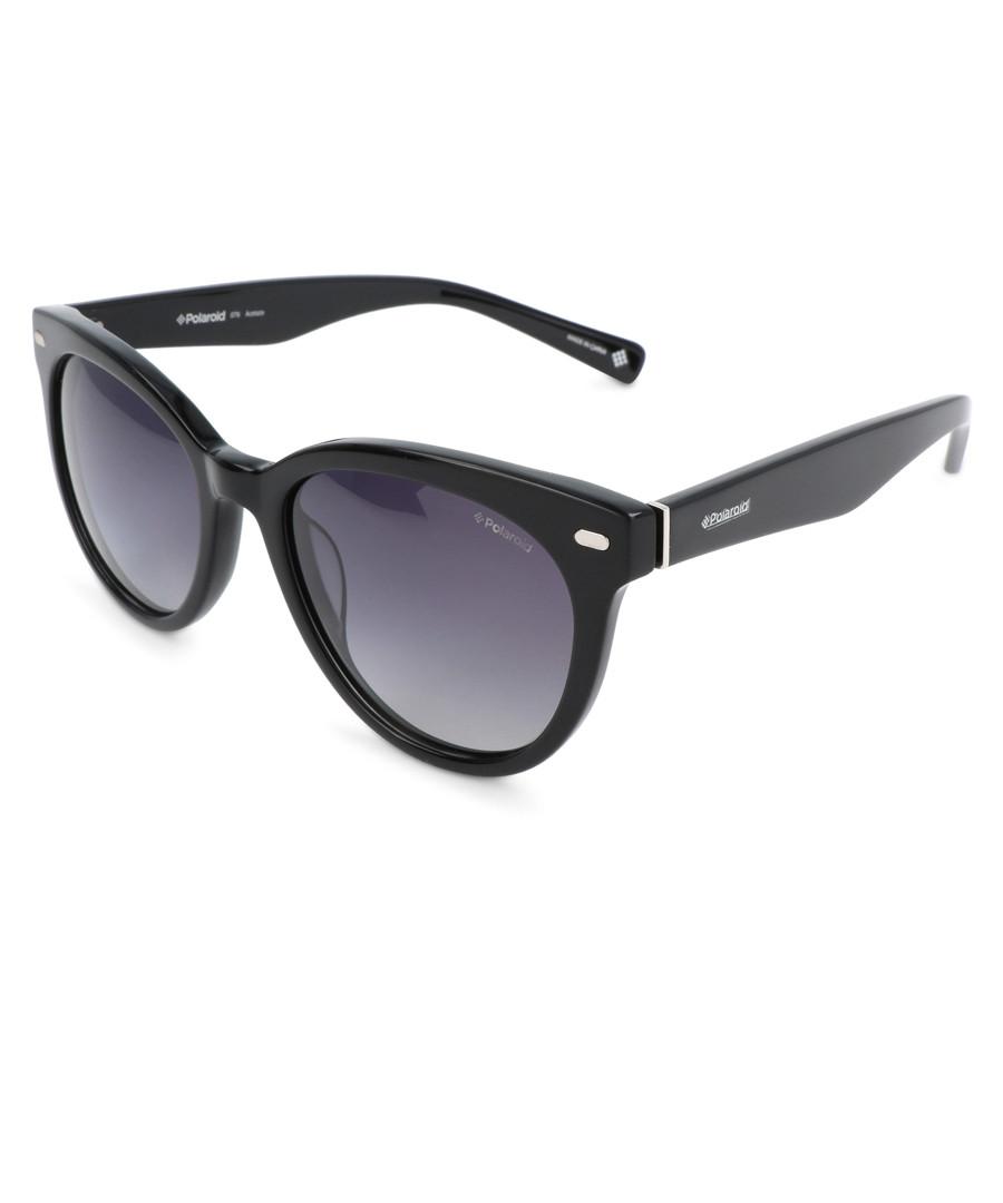 black rounded D-frame sunglasses Sale - polaroid