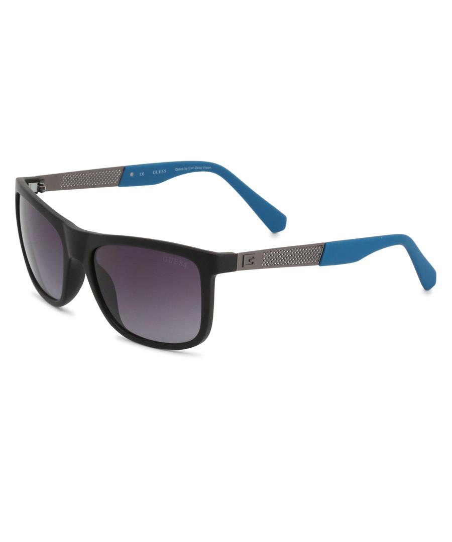 black metal squared sunglasses Sale - guess