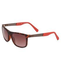 Havana squared sunglasses