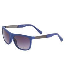 royal blue squared sunglasses
