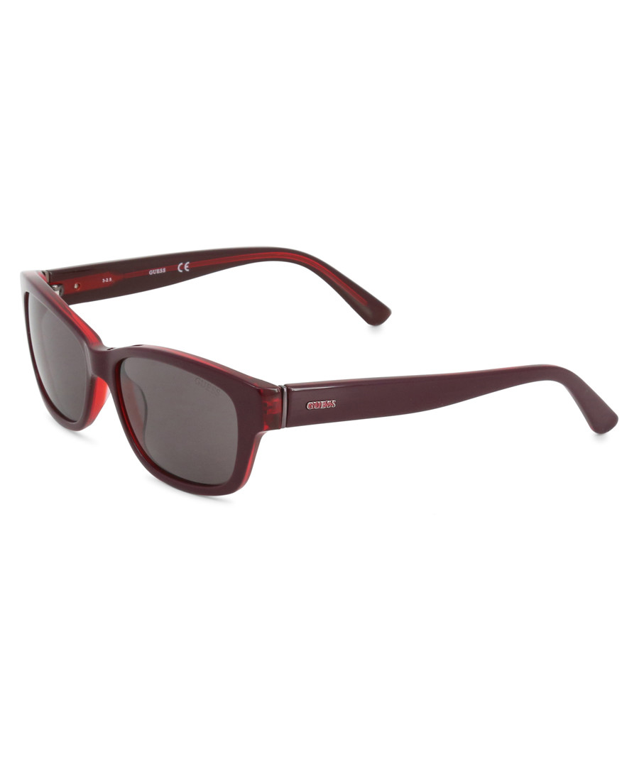 deep red slim sunglasses Sale - guess