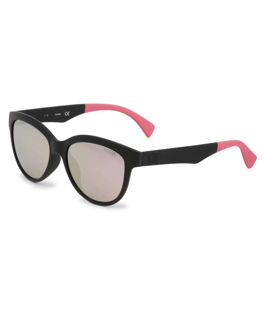 black & pink rounded sunglasses Sale - guess