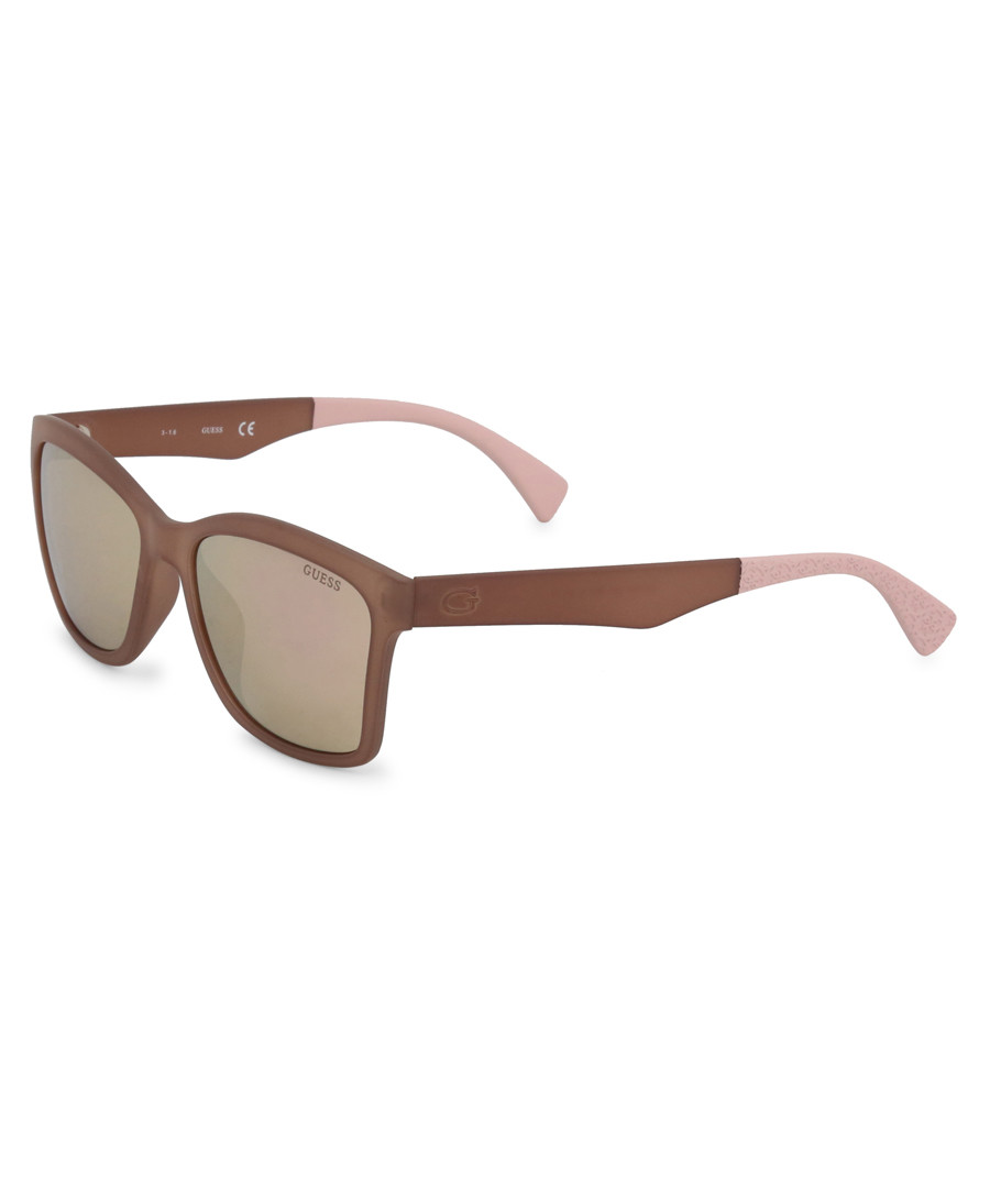 brown & pink squared sunglasses Sale - guess