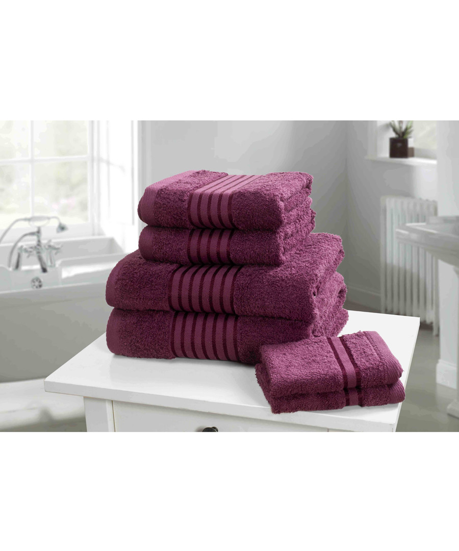 6pc Windsor plum cotton towel bales Sale - rapport home