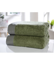 2pc Tidal sage cotton towel bales