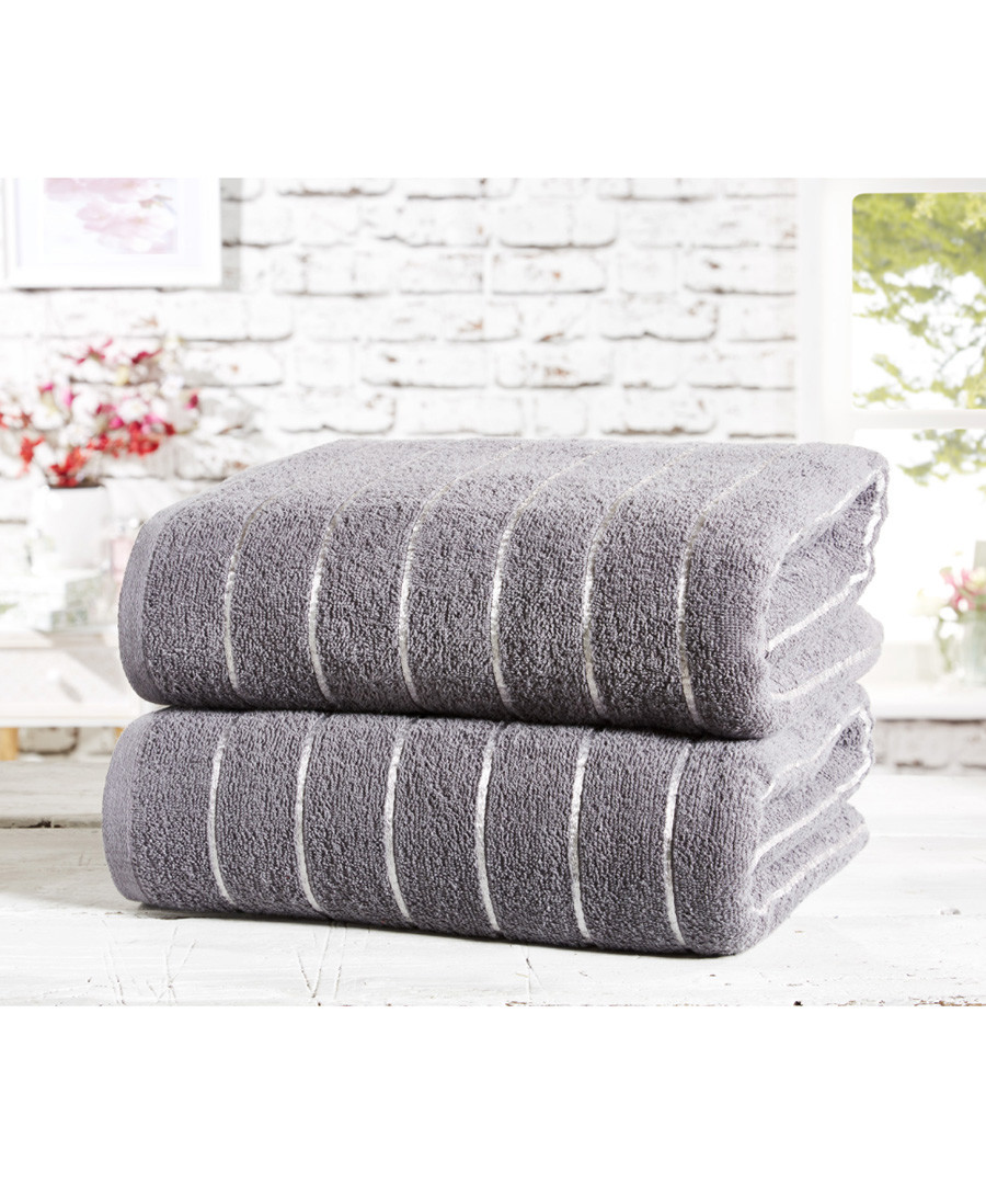 2pc Sandringham charcoal towel bales Sale - rapport home