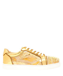 Vieira Spikes Orlato golden sneakers