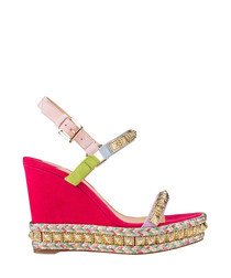 Pyradiams multi-colour wedge sandals