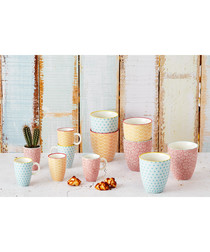 6pc colour collection coffee cup set