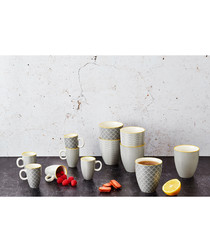 6pc eclipse ceramic mug set