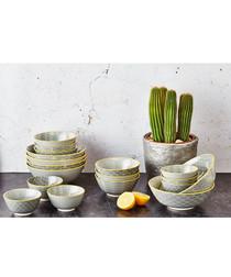 6pc eclipse ceramic breakfast bowl set