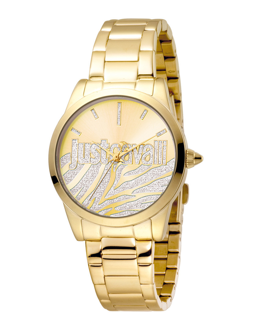 Gold-tone stainless steel watch Sale - just cavalli
