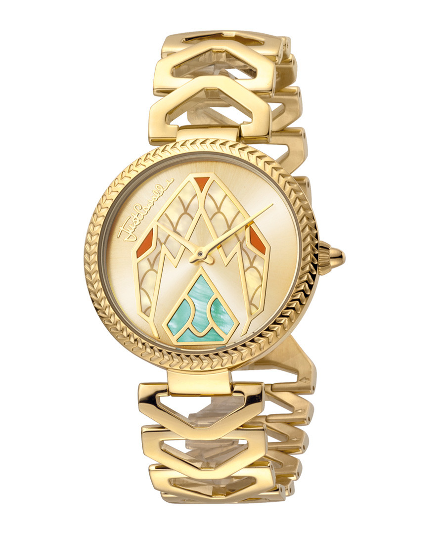 Gold-tone serpent dial watch Sale - just cavalli