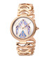 Gold-tone & lilac serpent dial watch Sale - just cavalli Sale