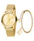 2pc Gold-tone steel watch & bracelet set Sale - just cavalli Sale