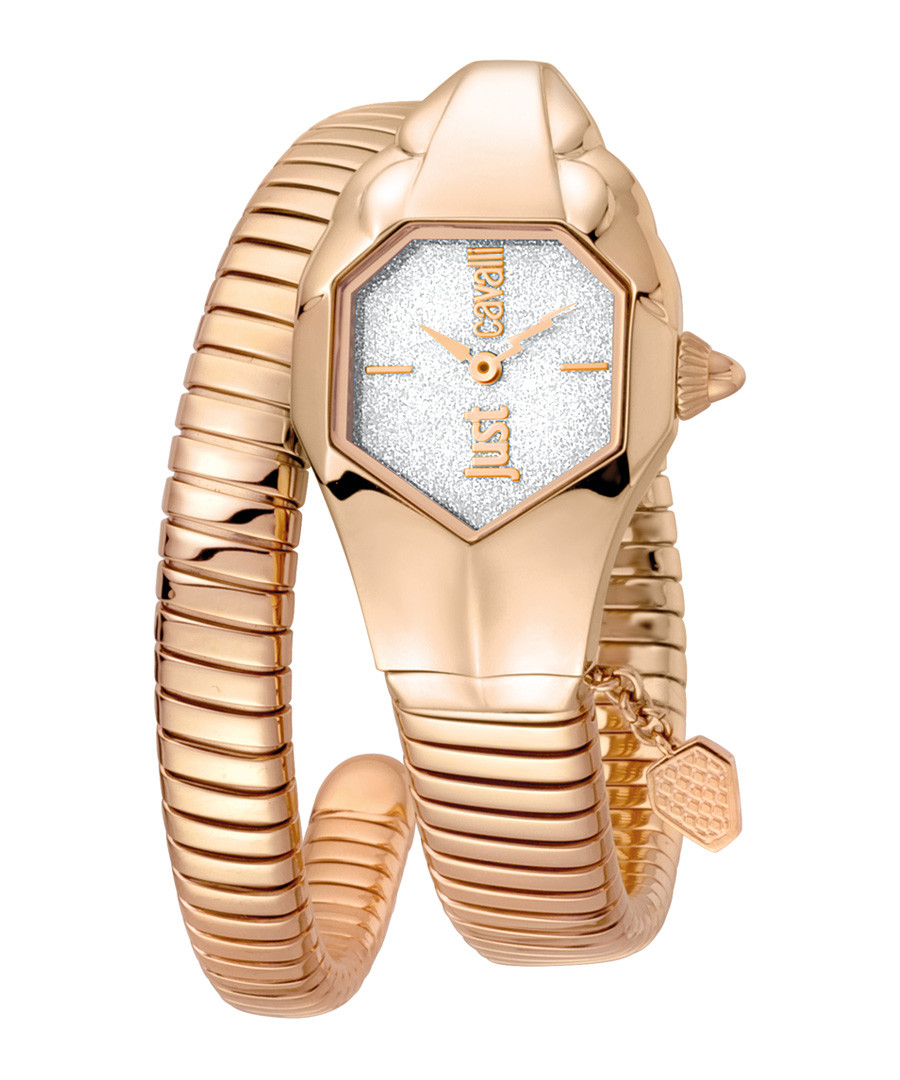 Rose gold-tone serpent wrap watch Sale - JUST CAVALLI