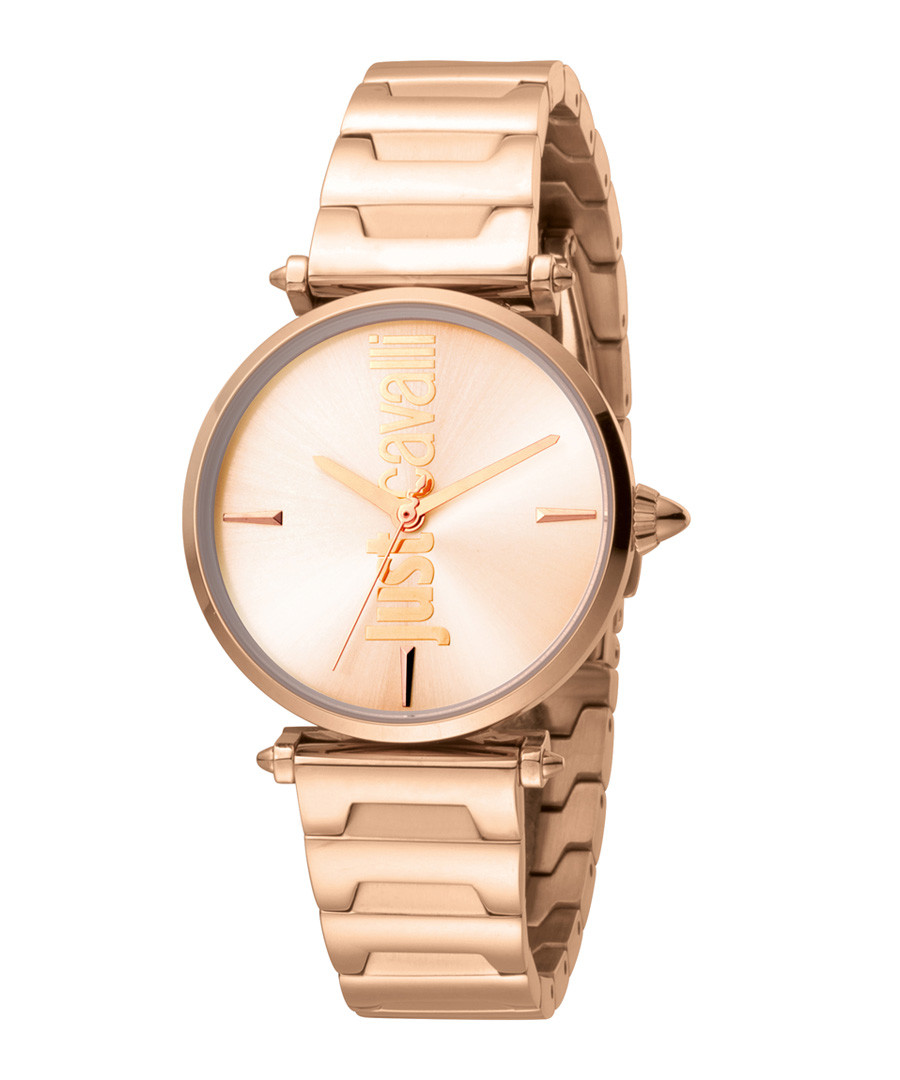 Rose gold-tone link strap watch Sale - JUST CAVALLI