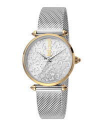 Dual-tone stainless steel watch