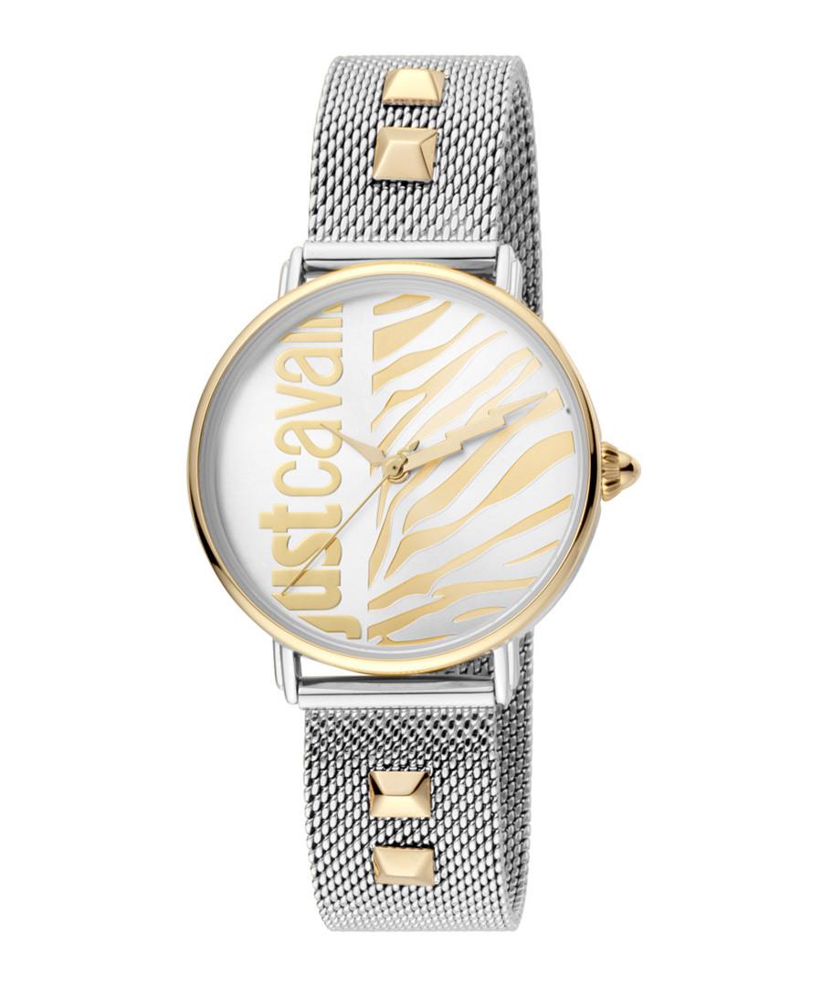 Dual-tone studded strap watch Sale - just cavalli