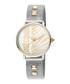 Dual-tone studded strap watch Sale - just cavalli Sale