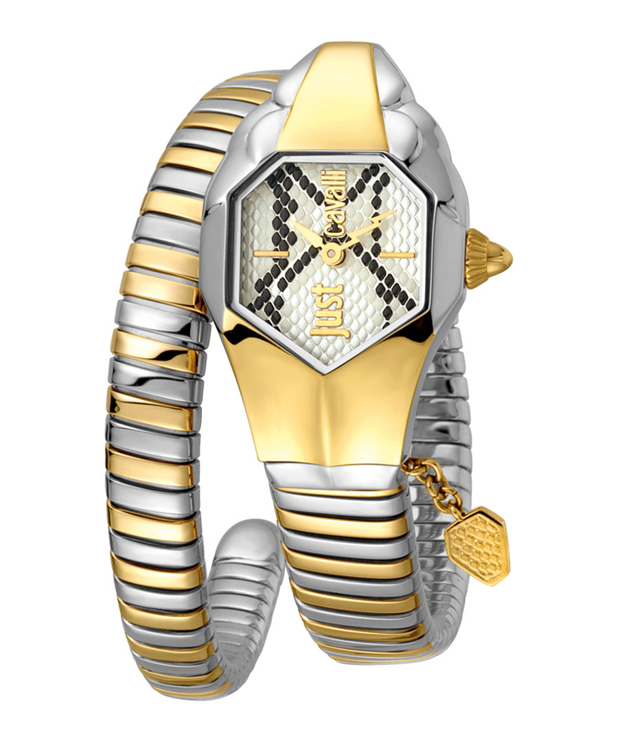 Dual-tone steel serpent wrap watch Sale - just cavalli