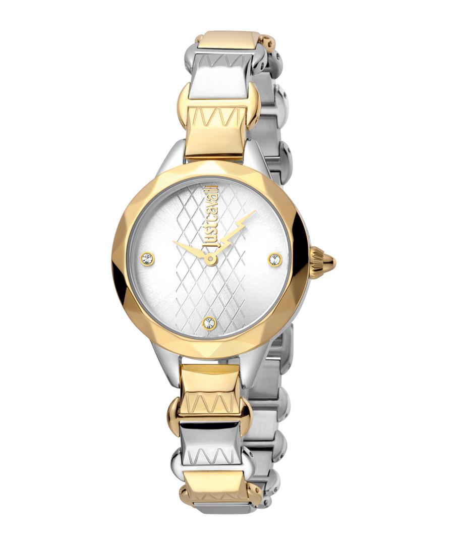 Dual-tone bracelet strap watch Sale - just cavalli