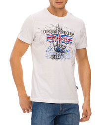 White British flag graphic T-shirt