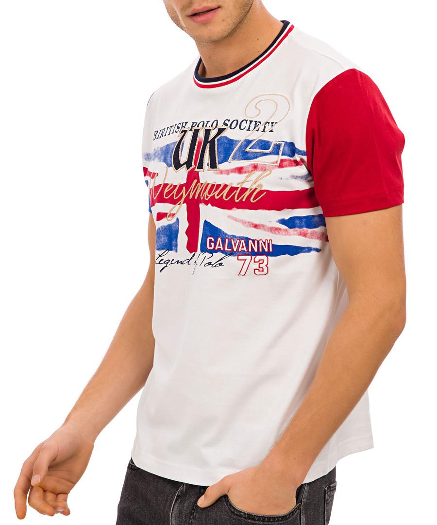 White & red British flag graphic T-shirt Sale - galvanni