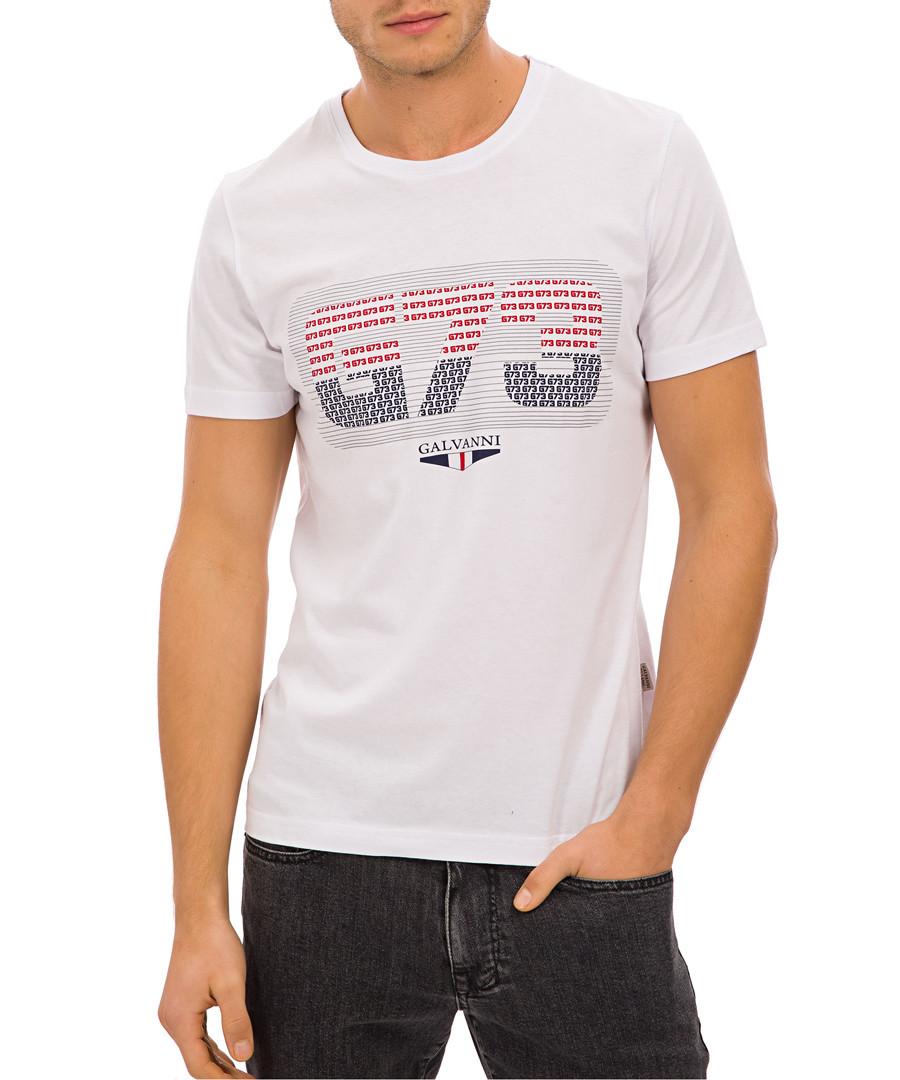 White pure cotton graphic print T-shirt Sale - galvanni