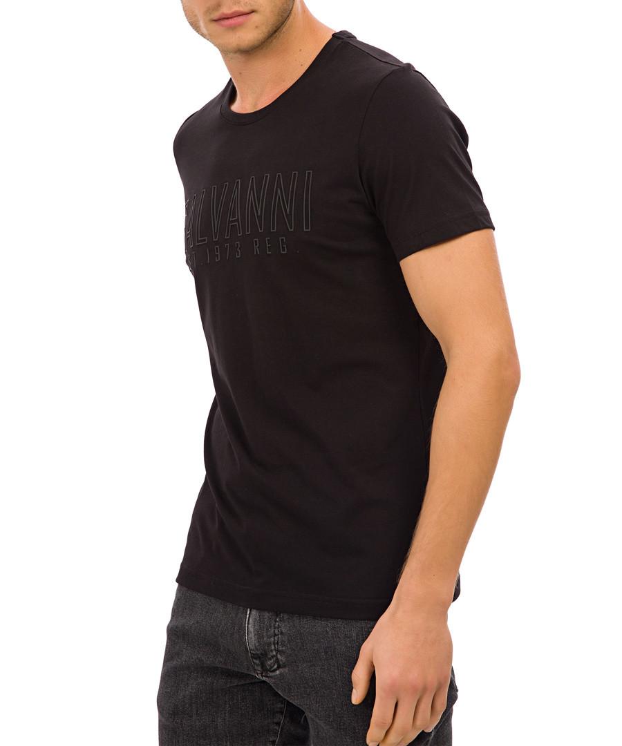 Black pure cotton graphic print T-shirt Sale - galvanni