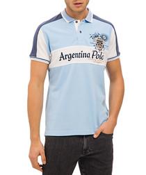 Light blue Argentina polo T-shirt