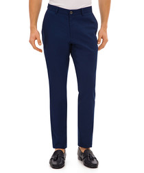 Radov dark blue cotton blend trousers