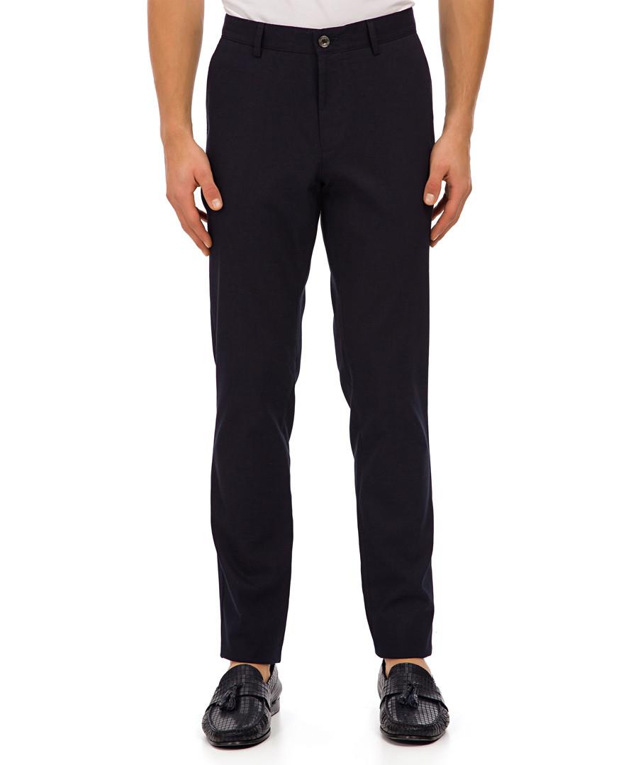 Radov deep blue cotton blend trousers Sale - galvanni