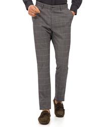 Probistip black check trousers