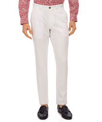 Ringe white pure cotton trousers