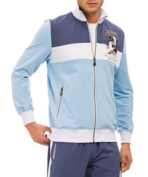 Light blue cotton zip-up jacket
